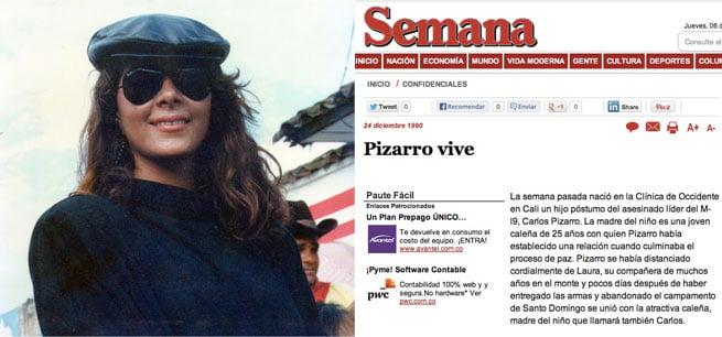 La revista Semana anunció el 24 de diciembre de 1990 que una mujer caleña había dado a luz al hijo de Carlos Pizarro.