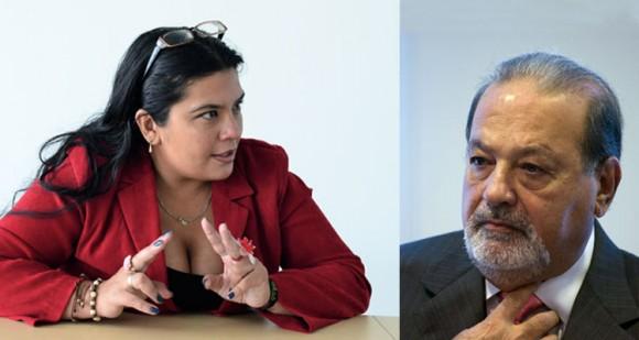 Carlos Slim, un Goliat amenazado por un grupo de trabajadores como Yuli Higuera.