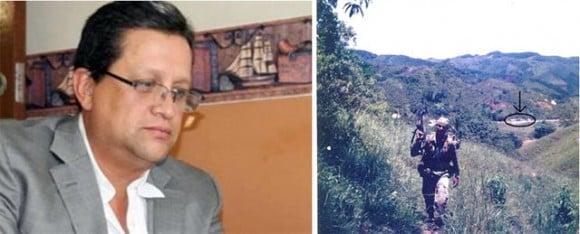 Izquierda: Santiago Gallón se declara culpable de financiar grupos paramilitares. Derecha: el paramilitar Juan Monsalve en la Hacienda Las Guacharacas.
