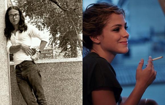 Andrés Caicedo autor de ¡Que Viva la Música! y Paulina Dávila quien interpretará a María del Carmen en la película.