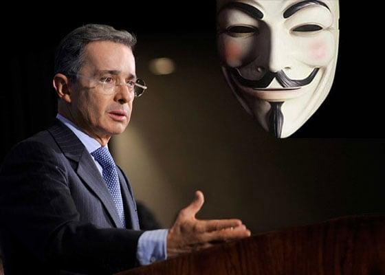 """¿Por qué quedó Uribe como """"El gran colombiano"""" según Anonymous?"""