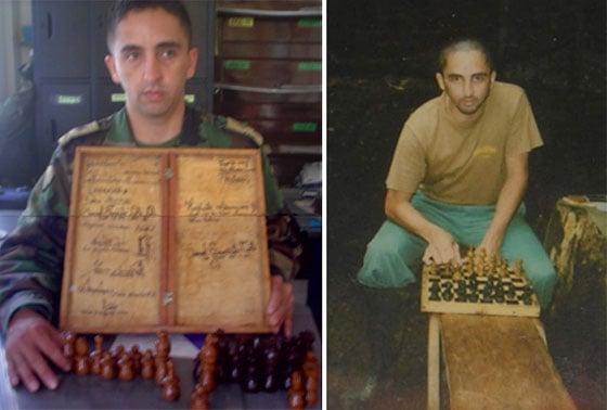 El sargento Aranguren fabricó en la selva cerca de 200 juegos de ajedrez.