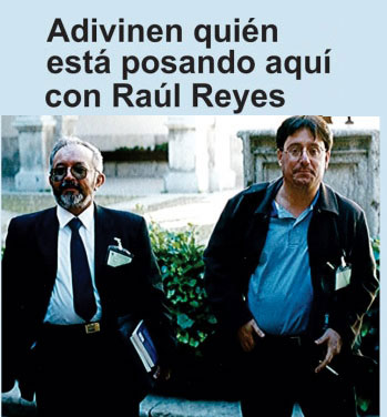 ¿Qué hacía Pacho Santos con Raúl Reyes?