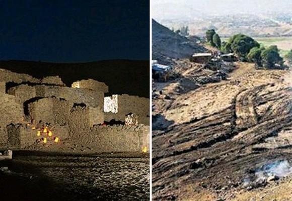 Retroexcavadora arrasó pirámide en Perú