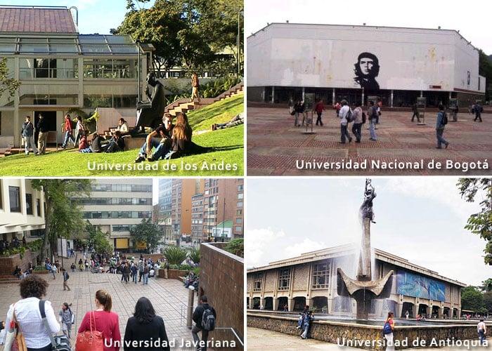 ¿Cuáles son las 10 mejores universidades de Colombia?