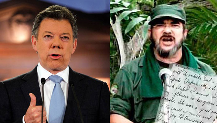 """""""La democracia colombiana es una vergüenza, Santos. Vamos a cambiarla"""": Timochenko"""