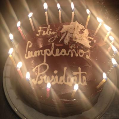 ¿Con quien celebró Juan Manuel Santos su Cumpleaños?