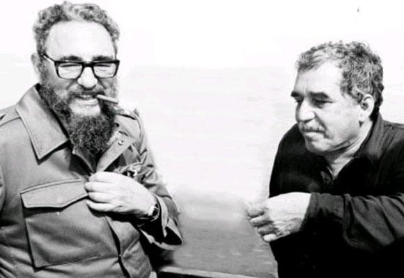 El nobel de literatura Gabriel García Márquez siempre disfrutó de la hospitalidad ofrecida personalmente por el comandante Fidel Castro en La Habana. Foto: Archivo Semana.