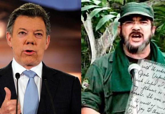 Santos quiere reanudar de una los diálogos, las Farc no
