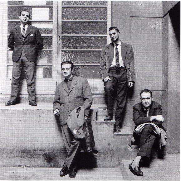 El Grupo de Barcelona: Jaime Gil de Biedma, José Agustín Goytisolo, Carlos Barral y José María Castellet