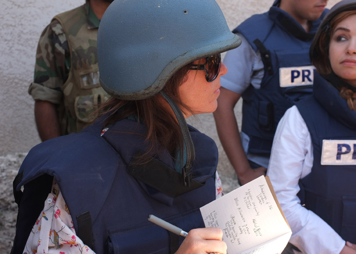 ¿Cómo una periodista colombiana cubre la guerra de Siria?