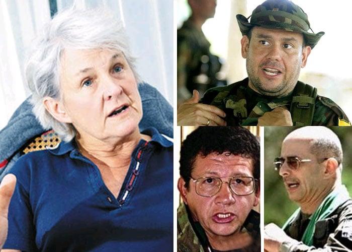 Cinco familiares de la cúpula de las Farc secuestrados, Liduine Zumpolle se la jugó por la liberación