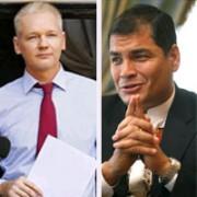 Al presidente Correa se le llenó la copa con el tema de Assange