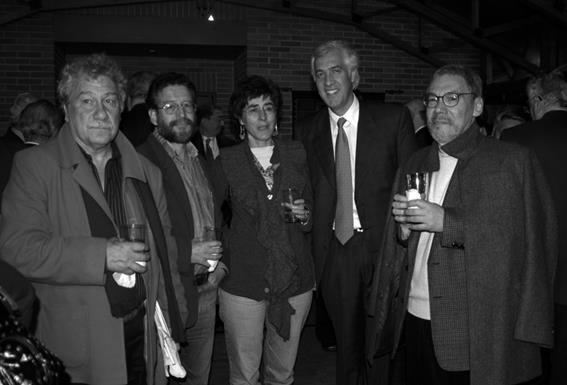 JM Roca, Santiago Mutis, la Doctora Urrea, el alcalde ladrón y Burgos celebrando el triunfo de la derecha.