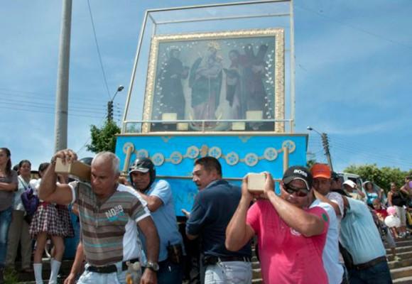 La Virgen de Chiquinquirá llega esta tarde a la Bahía de Cartagena