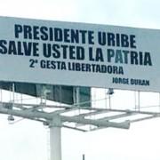 No convencieron a Uribe las vallas del hijo del concejal Jorge Durán Silva para entrar en su lista a la Cámara