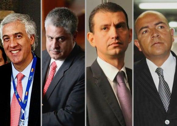 Samuel Moreno, Iván Moreno, Emilio Tapia y Julio Gómez, las cabezas visibles del desfalcó a la ciudad