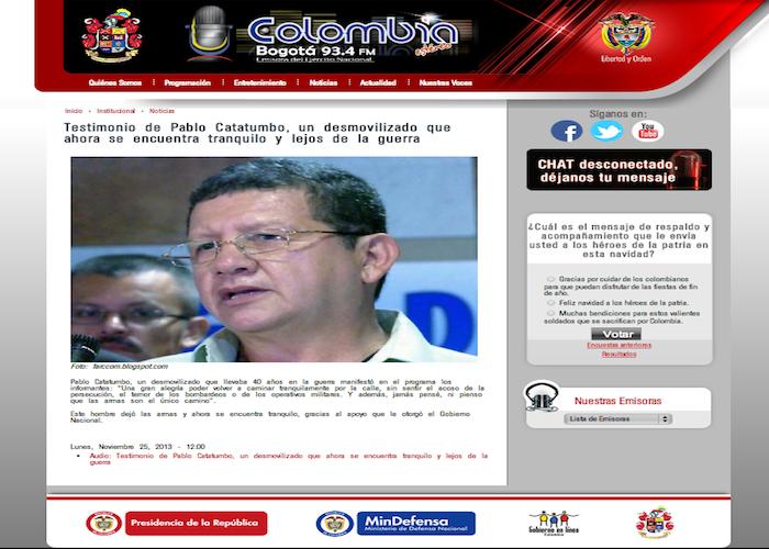 Ejército manipula entrevista con Pablo Catatumbo