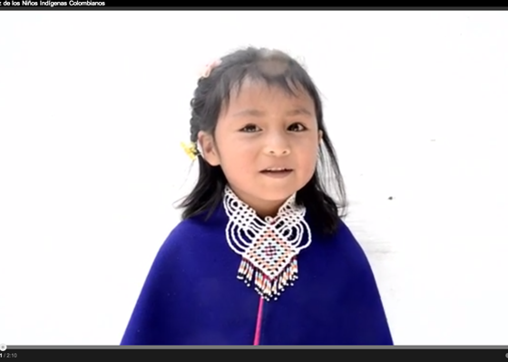 La apuesta de paz de los niños indígenas