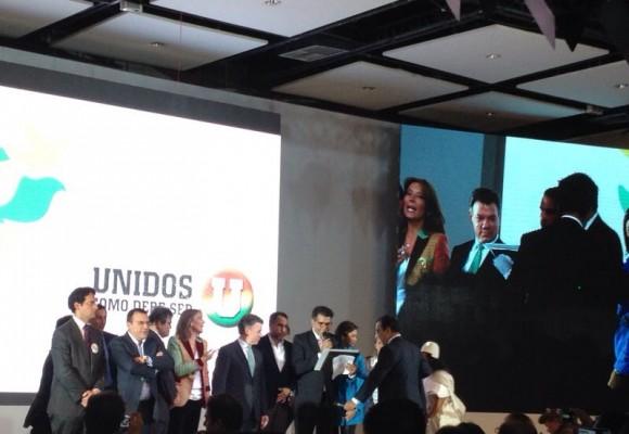 """""""Yo, Juan Manuel Santos y el Partido de la U nos la jugamos por la paz"""""""