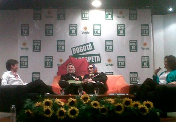 Original lanzamiento de campaña de Claudia López y Angélica Lozano