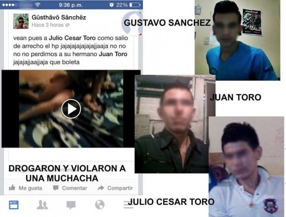 """Foto subida en la fan page """"Carcel Para Los Violadores De Chinchina"""""""