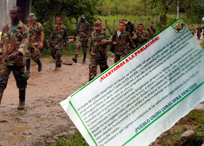 Las 46 reglas que le puso las Farc a las comunidades del sur de Colombia