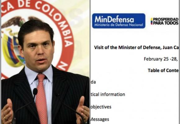 Escándalo por filtración de agenda de ministro de Defensa ¿Qué va hacer Juan Carlos Pinzón en Estados Unidos?
