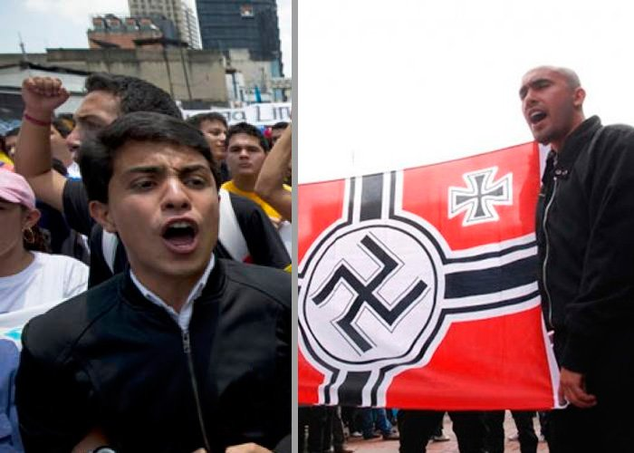 El líder estudiantil opositor de Nicolás Maduro, es amigo de los Neo Nazis colombianos