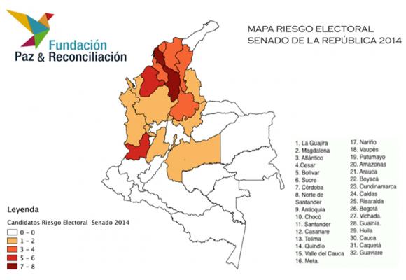 Bolívar, el departamento con más riesgo electoral
