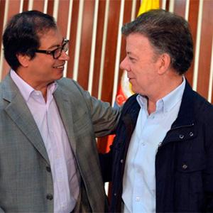 Acercamiento entre Santos y Petro