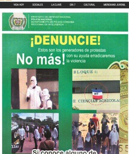 Paramilitares amenazan la Universidad de Córdoba