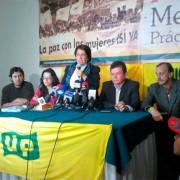 Aida Avella formaliza apoyo de la Unión Patriótica a Santos