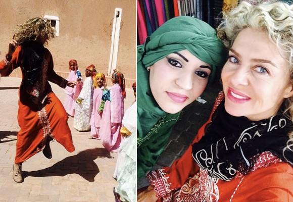 La felicidad de Margarita Rosa en Marruecos