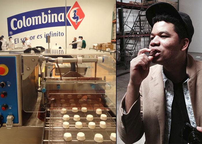 """El artista Óscar Murillo puso a comer """"Chocmelos"""" a los neoyorquinos"""