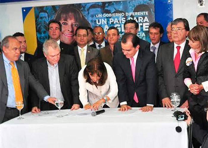 Documento de acuerdo: Marta Lucía Ramírez y Óscar Iván Zuluaga