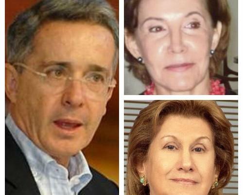 Las anfitrionas de Uribe en Cali