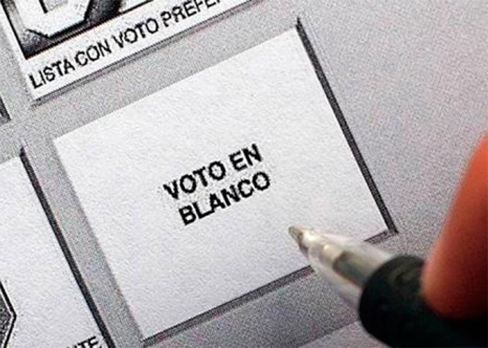 Candidato: voto en blanco