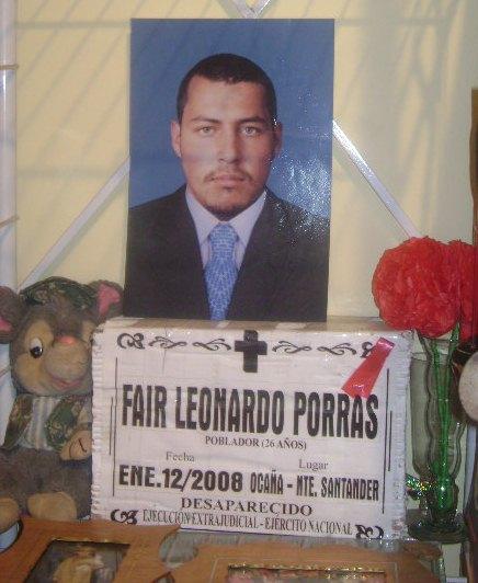 Fair Leonardo es solo uno de las más de 5000 víctimas de ejecuciones extrajudiciales o falsos positivos en los últimos años