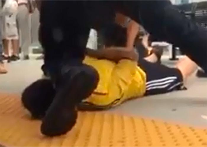 Video: colombianos son agredidos por policía en New Jersey