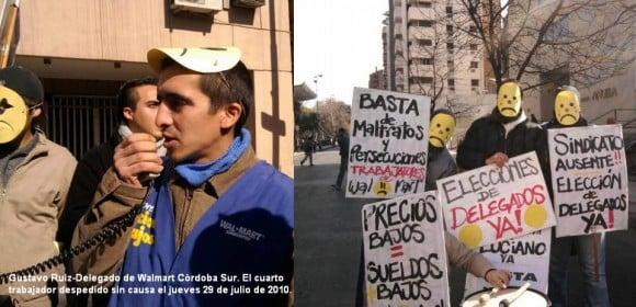 Protesta de empleados de Wal-Mart en Argentina