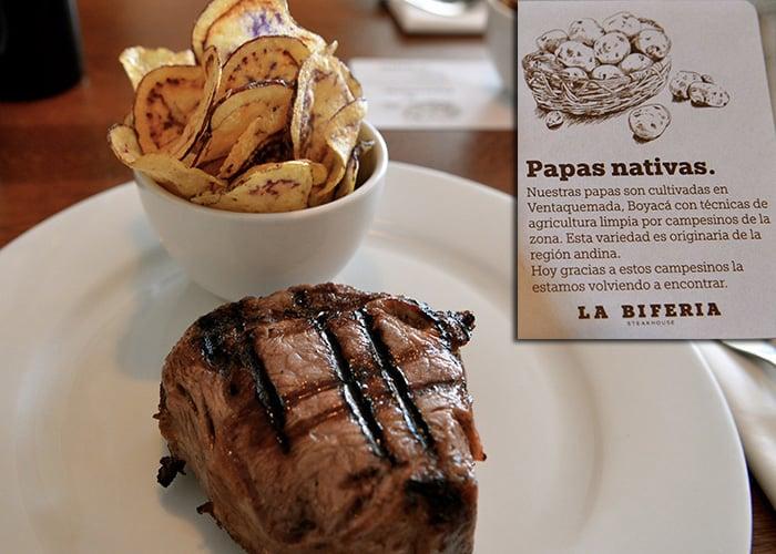 El restaurante La Biferia sólo ofrece productos que apoyen la agricultura colombiana.