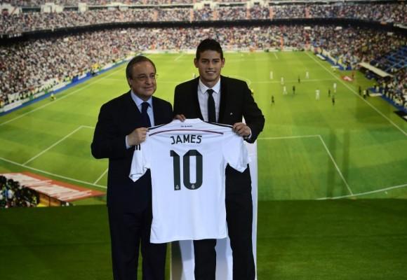 La impresionante bienvenida para James Rodríguez en el Bernabéu