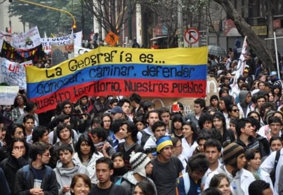 Colombia es el país de las manifestaciones
