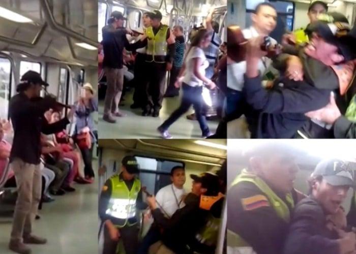 El violinista que sacaron del metro de Medellín