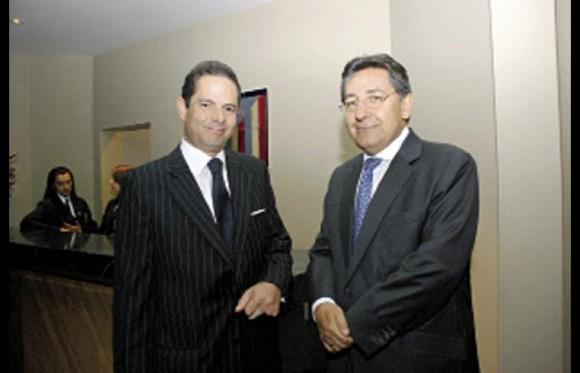 Germán Vargas Lleras y Nestor Humberto Martínez. Los dos hombres más poderosos del nuevo gobierno. Ambos de Cambio Radical y en el corazón de Santos. Foto: Archivo Cromos.com