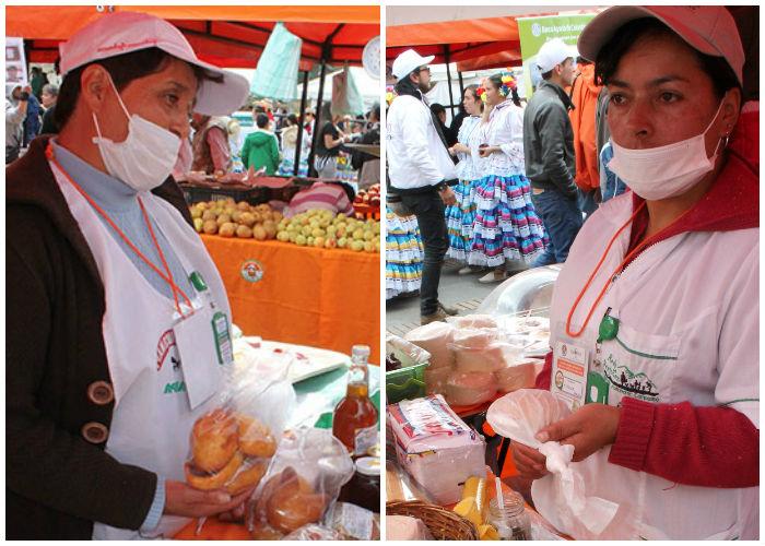 Las señoras Rosalba Rodríguez y Miriam Garzón no tienen más ingresos que los de la venta de sus productos.