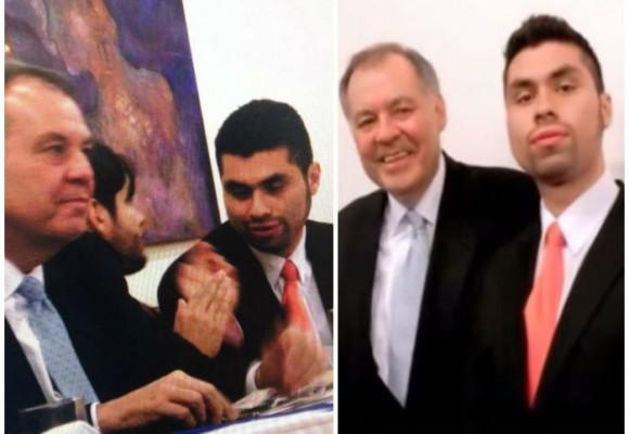 El Procurador Ordóñez y el exjefe neonazi Eduardo Romano, juntos en el homenaje de Restauración Nacional