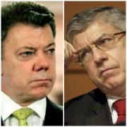 Santos y Gaviria, enfrentados por la Contraloría