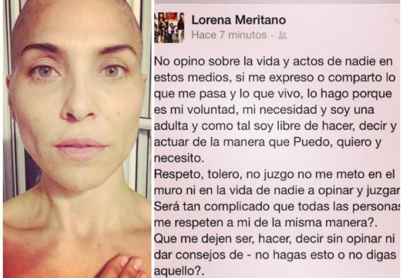 Lorena Meritano muestra su lucha contra el cáncer